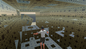 Menger Sponge Infinity (http://paulbourke.net/fractals/menger_sl)
